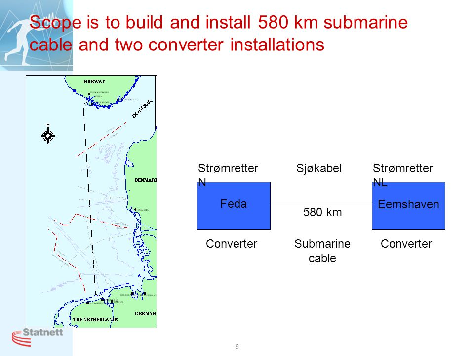 Scope is to build and install 580 km submarine cable and two converter installations