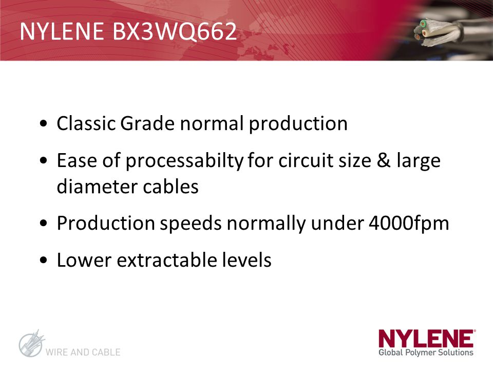 NYLENE BX3WQ662 Classic Grade normal production