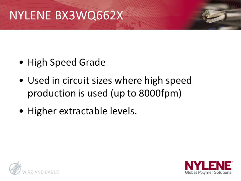 NYLENE BX3WQ662X High Speed Grade