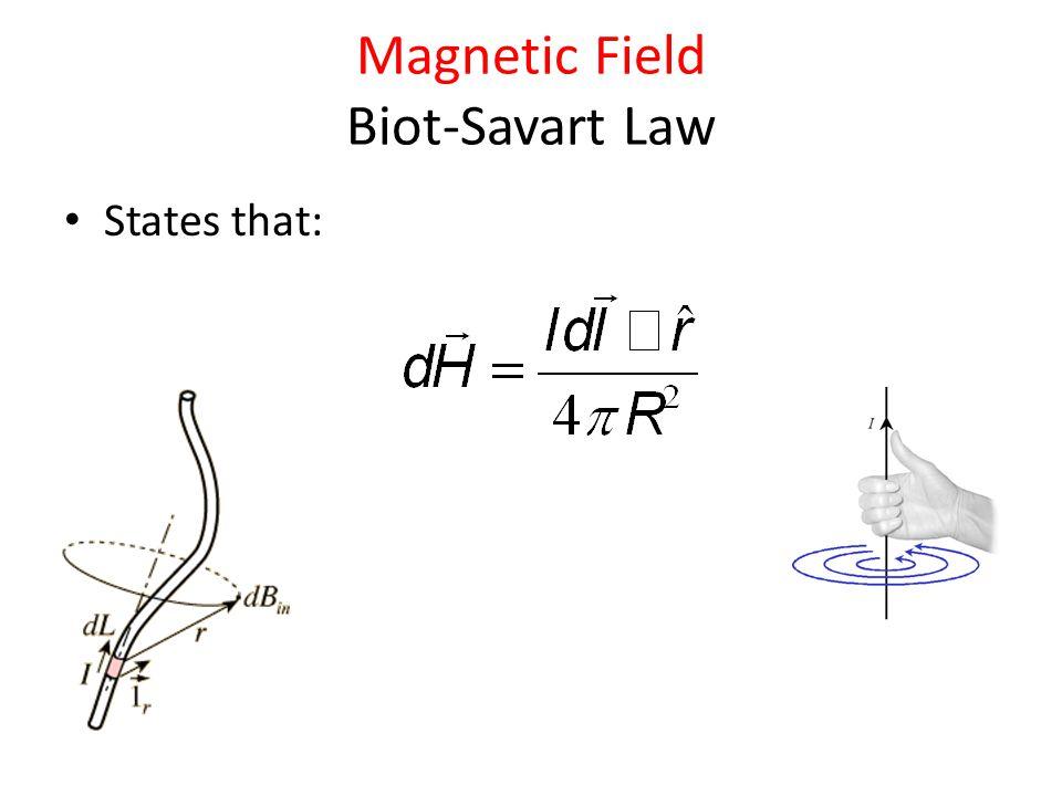 Magnetic Field Biot-Savart Law