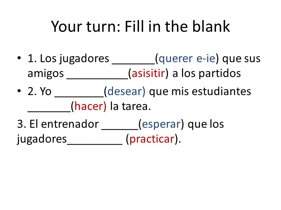 Your turn: Fill in the blank