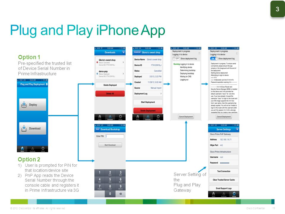 Plug and Play iPhone App