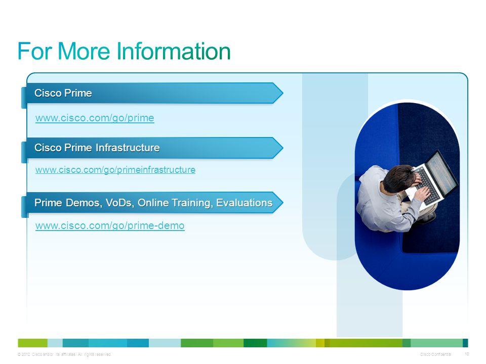 For More Information Cisco Prime www.cisco.com/go/prime