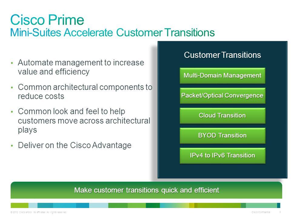 Cisco Prime Mini-Suites Accelerate Customer Transitions