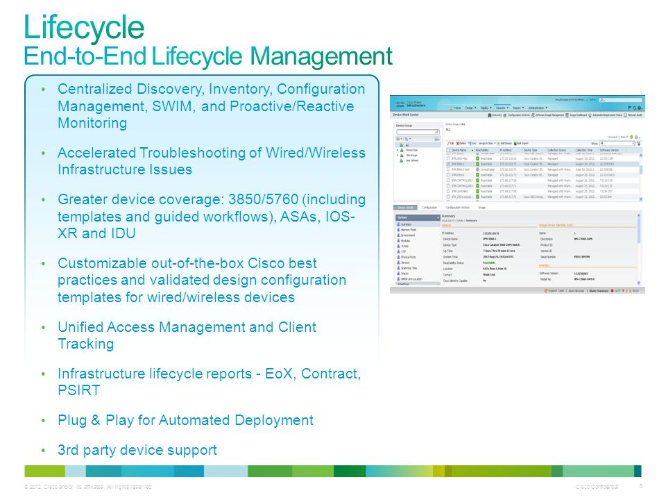 Lifecycle End-to-End Lifecycle Management
