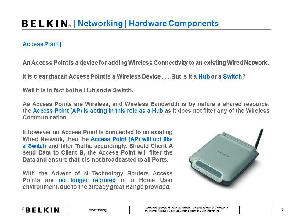| Networking | Hardware Components