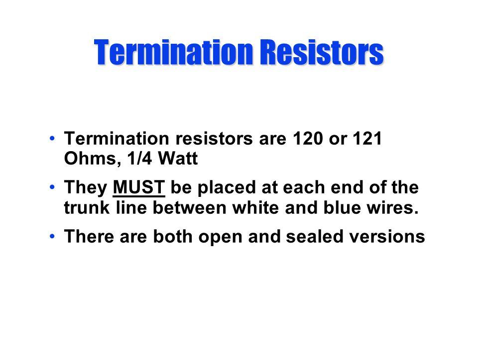 Termination Resistors