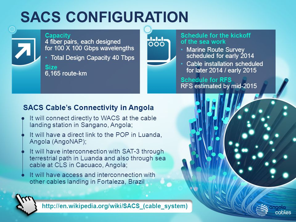 SACS CONFIGURATION SACS Cable's Connectivity in Angola