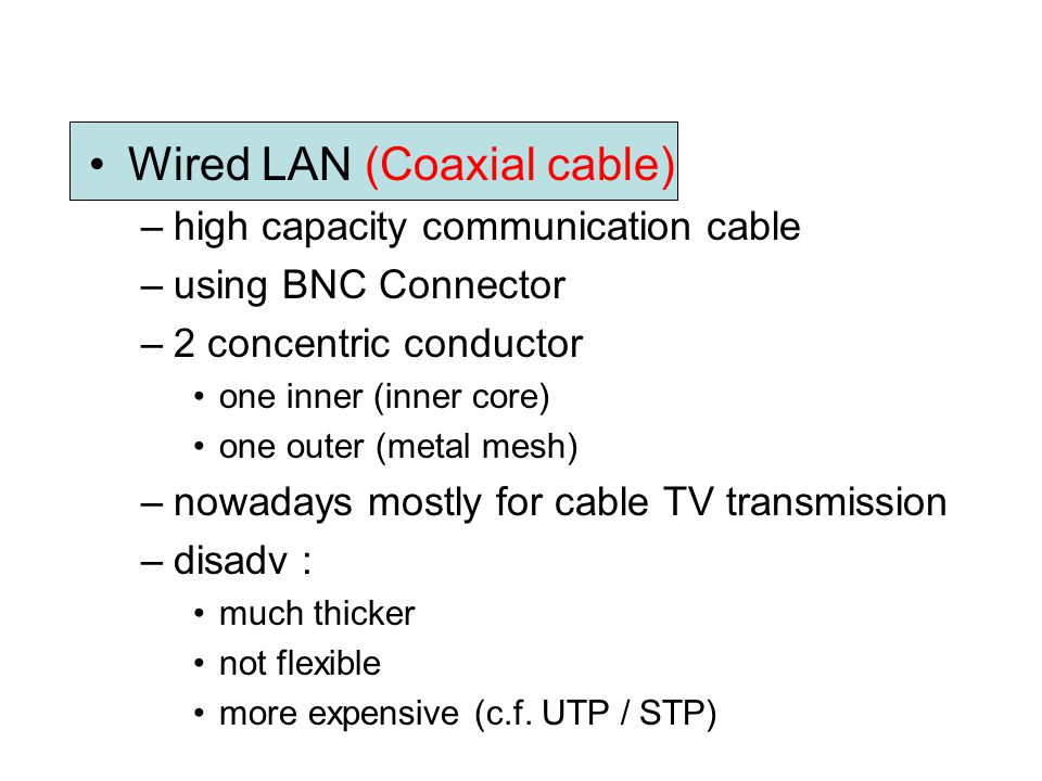 Wired LAN (Coaxial cable)