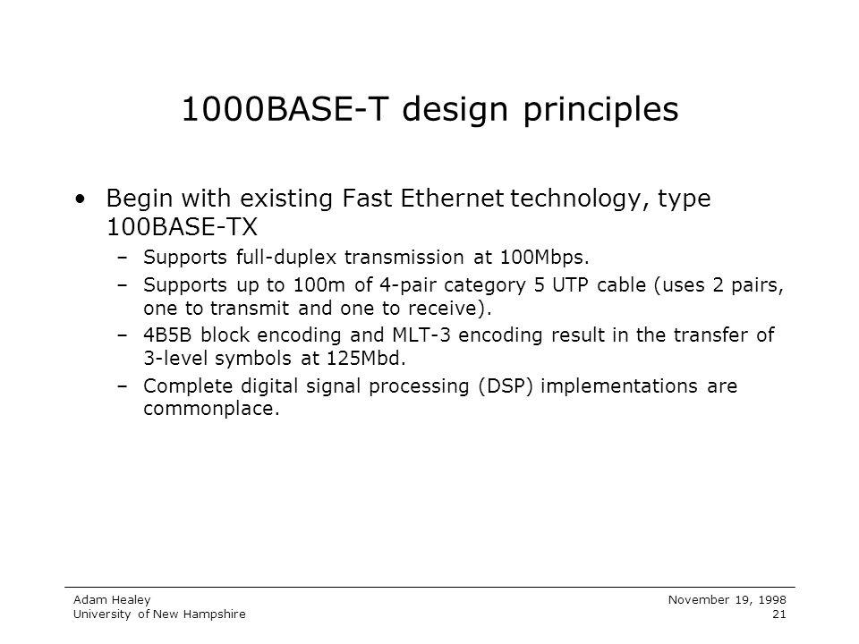 1000BASE-T design principles