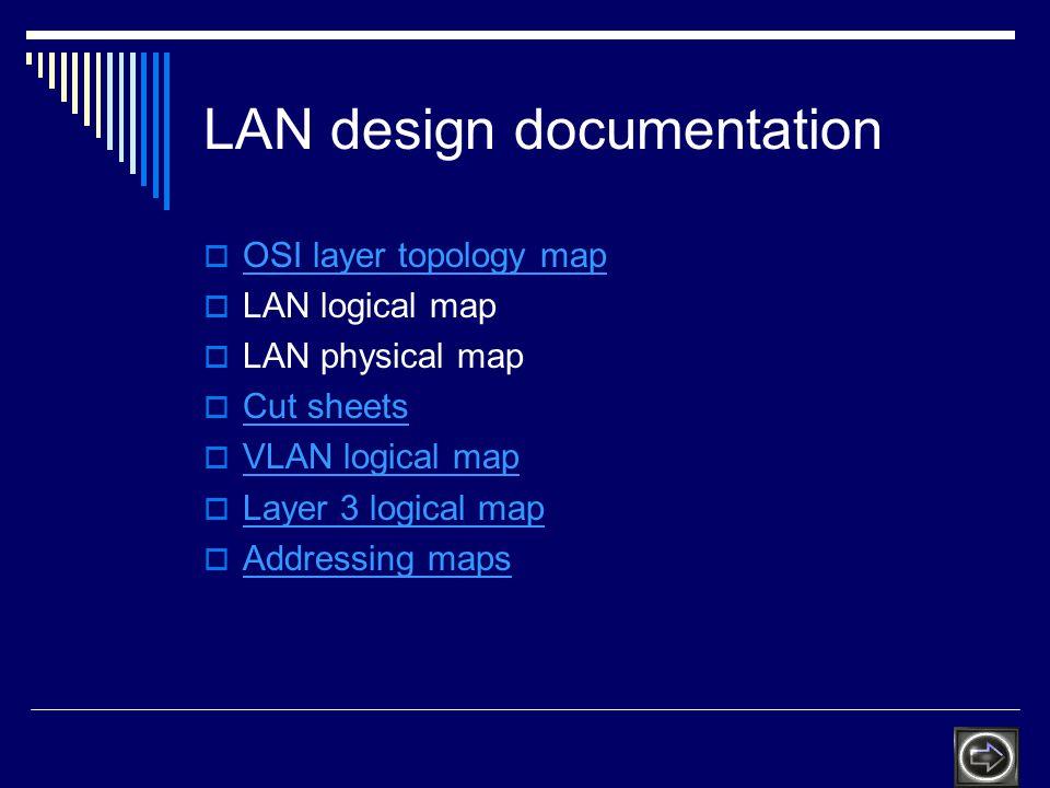 LAN design documentation