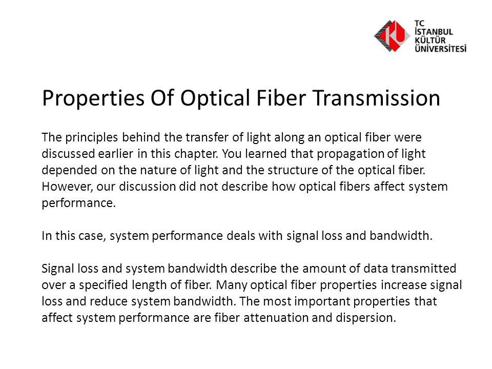 Properties Of Optical Fiber Transmission