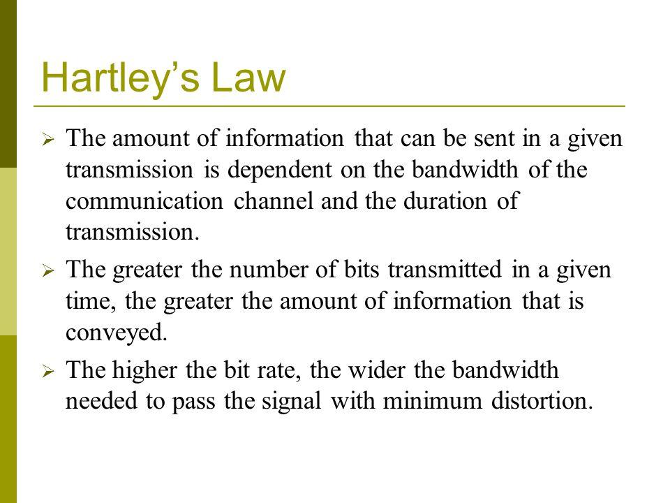 Hartley's Law