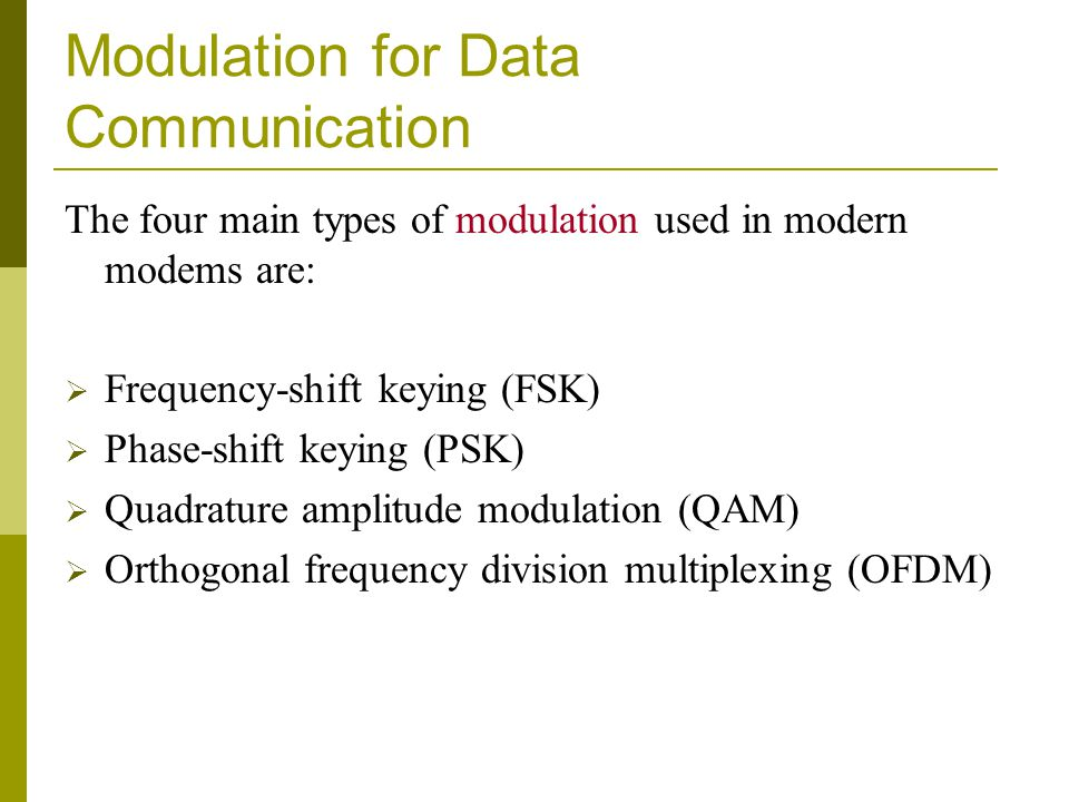 Modulation for Data Communication