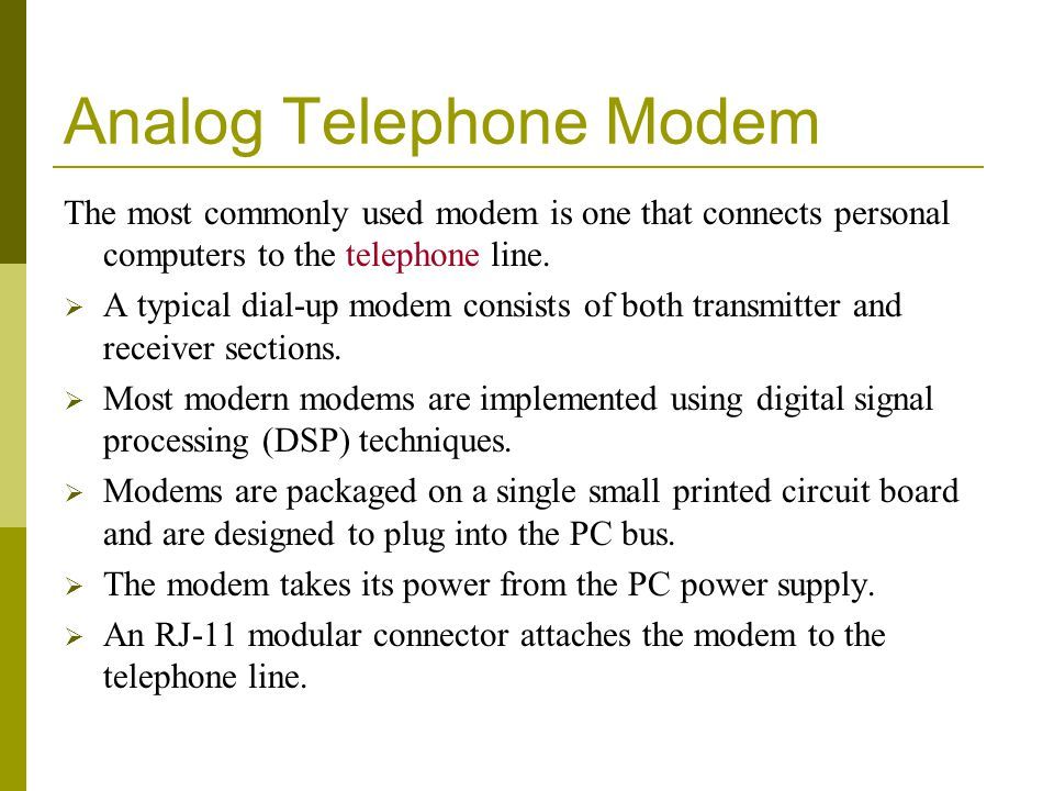Analog Telephone Modem