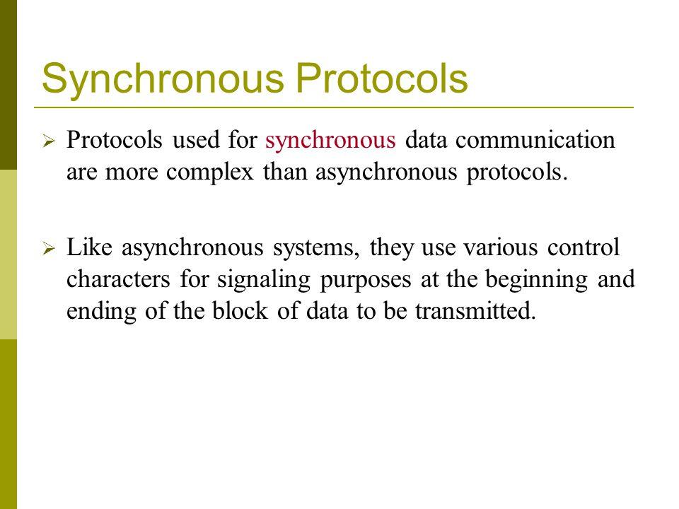 Synchronous Protocols