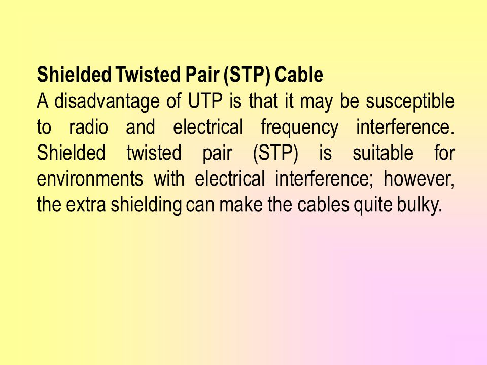 Shielded Twisted Pair (STP) Cable
