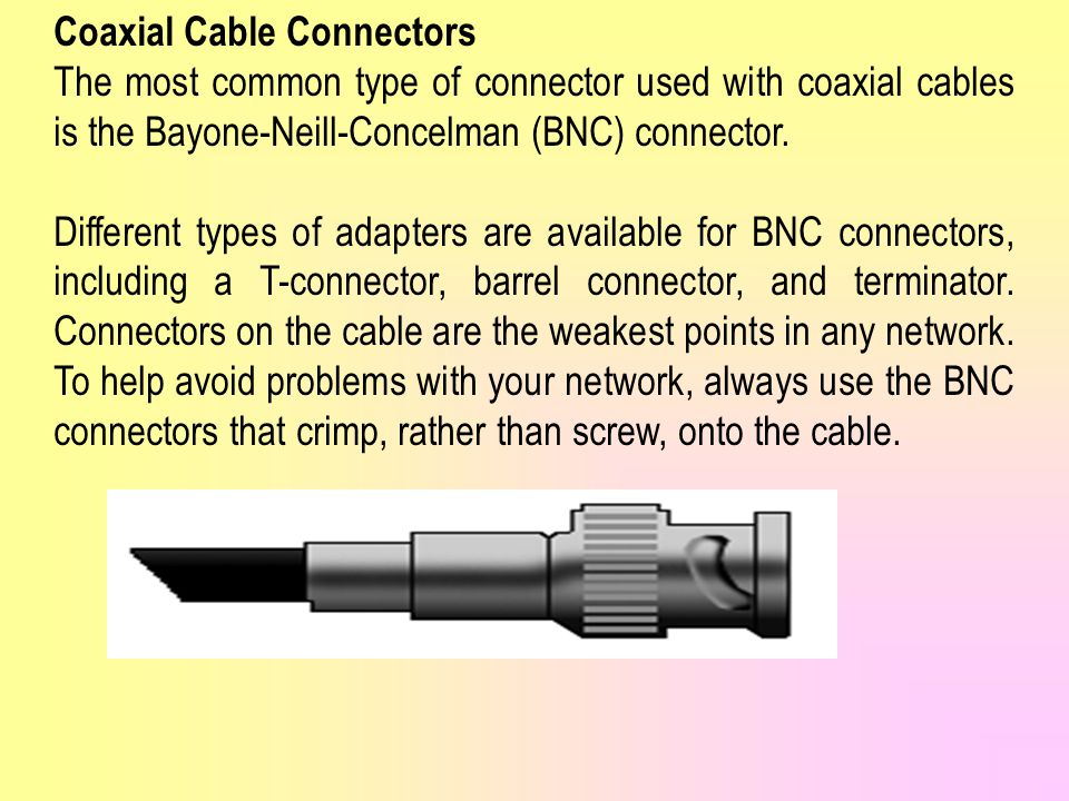 Coaxial Cable Connectors