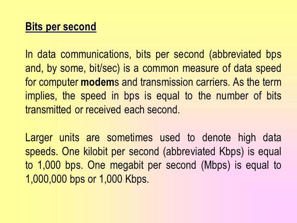Bits per second