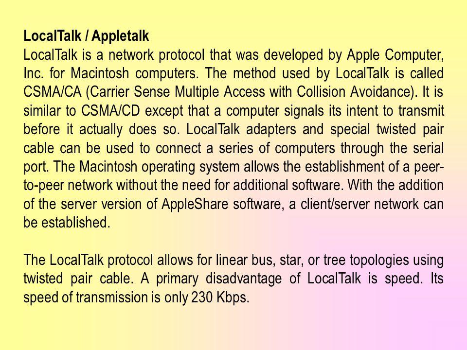 LocalTalk / Appletalk