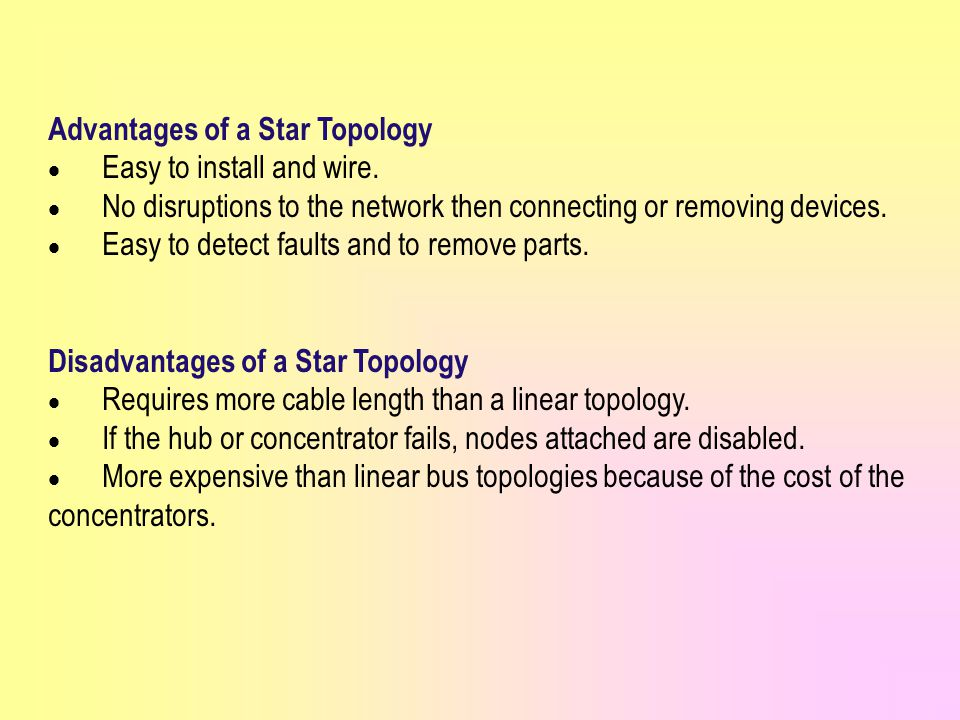 Advantages of a Star Topology