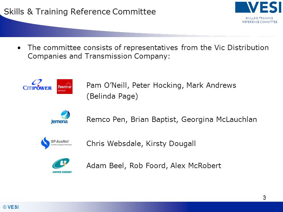 Skills & Training Reference Committee
