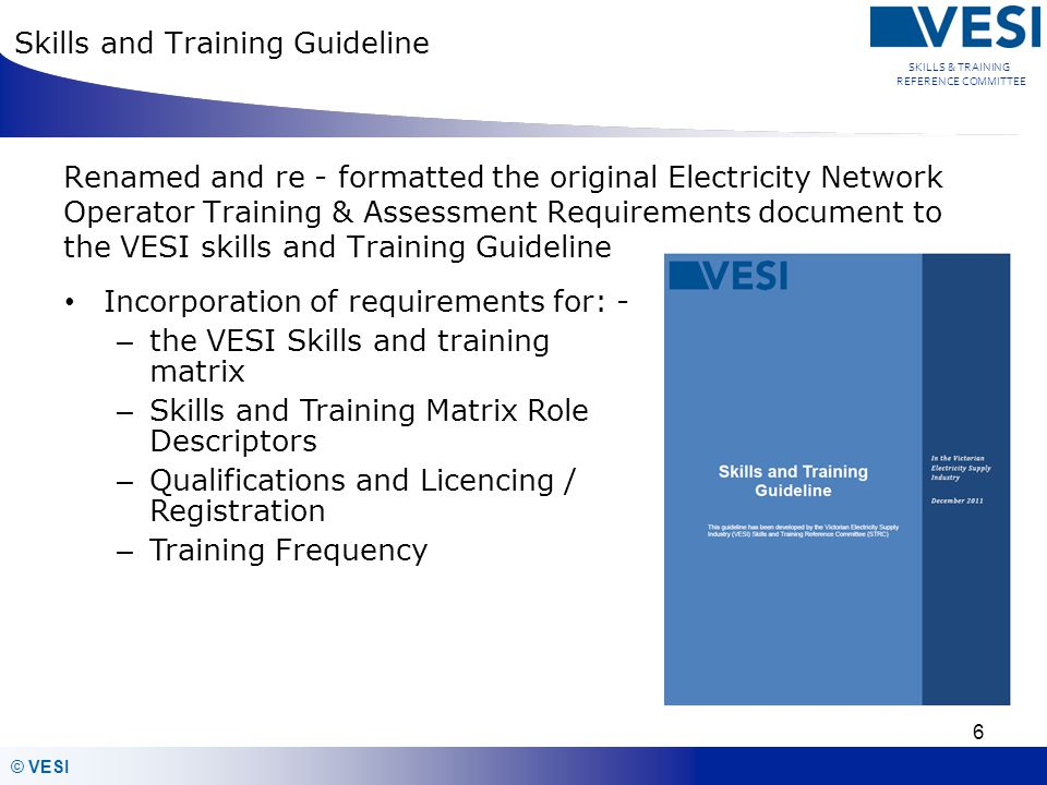 Skills and Training Guideline