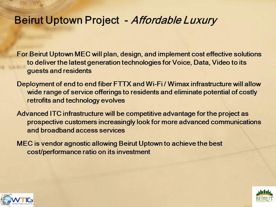 Beirut Uptown Project - Affordable Luxury