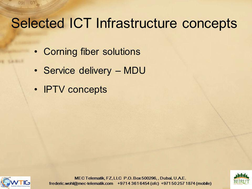 Selected ICT Infrastructure concepts