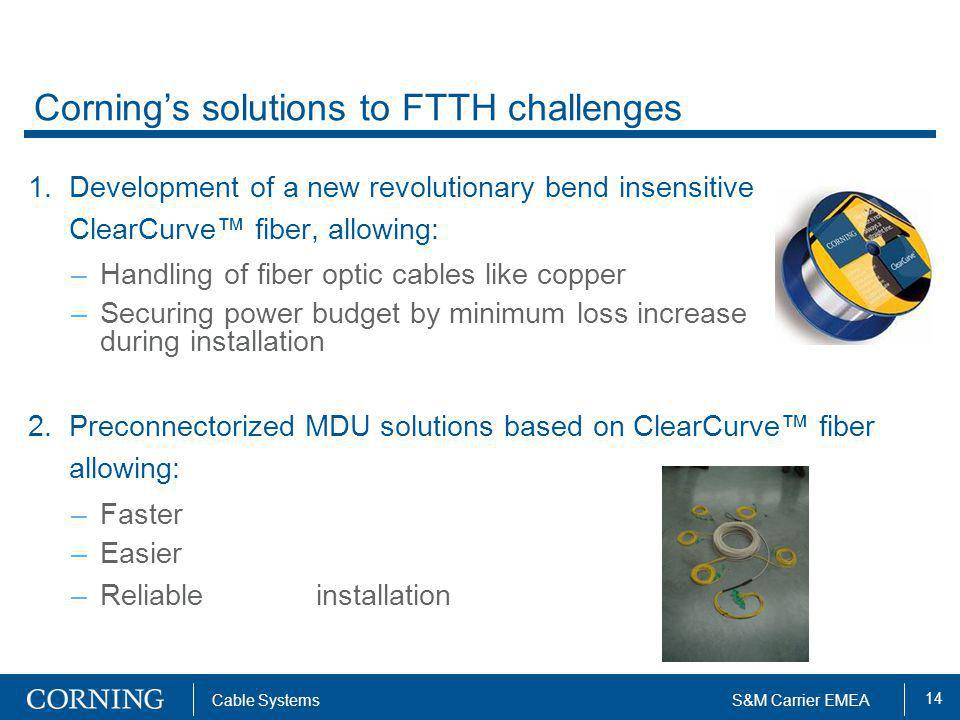 Corning's solutions to FTTH challenges