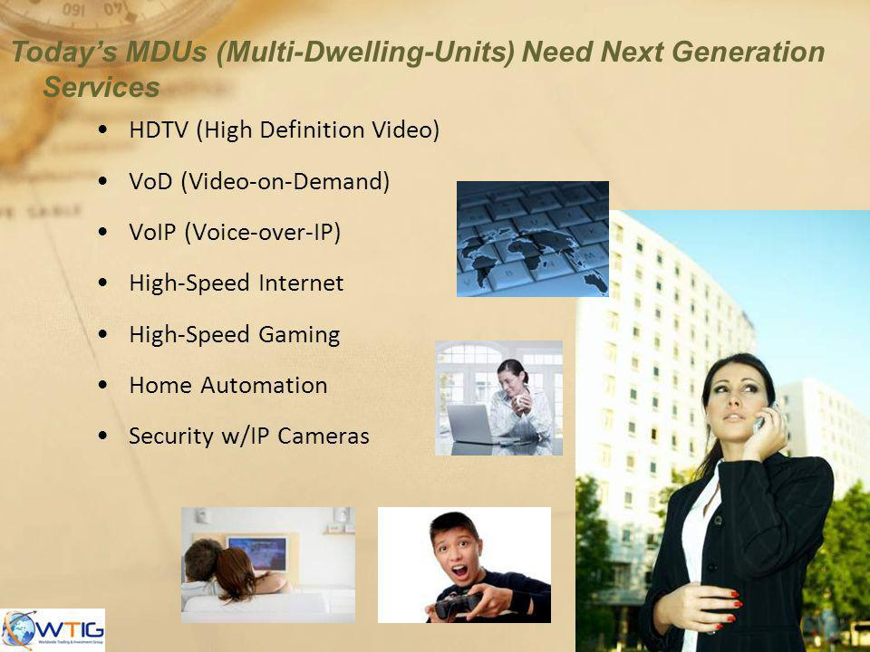 Today's MDUs (Multi-Dwelling-Units) Need Next Generation Services
