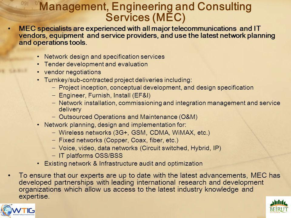 Management, Engineering and Consulting Services (MEC)