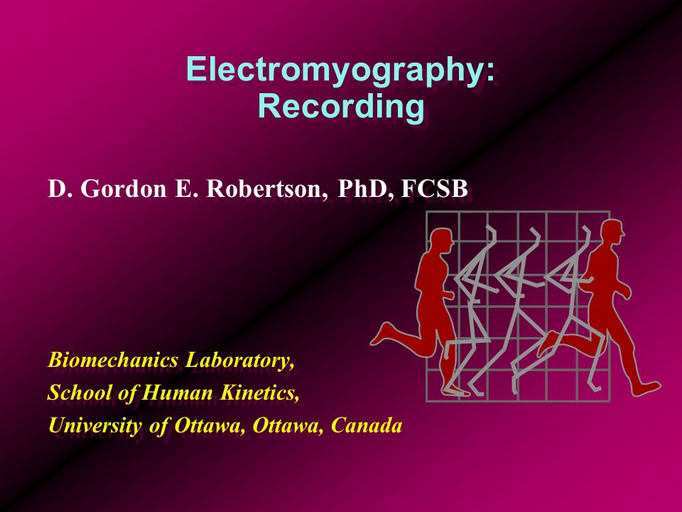 Electromyography: Recording