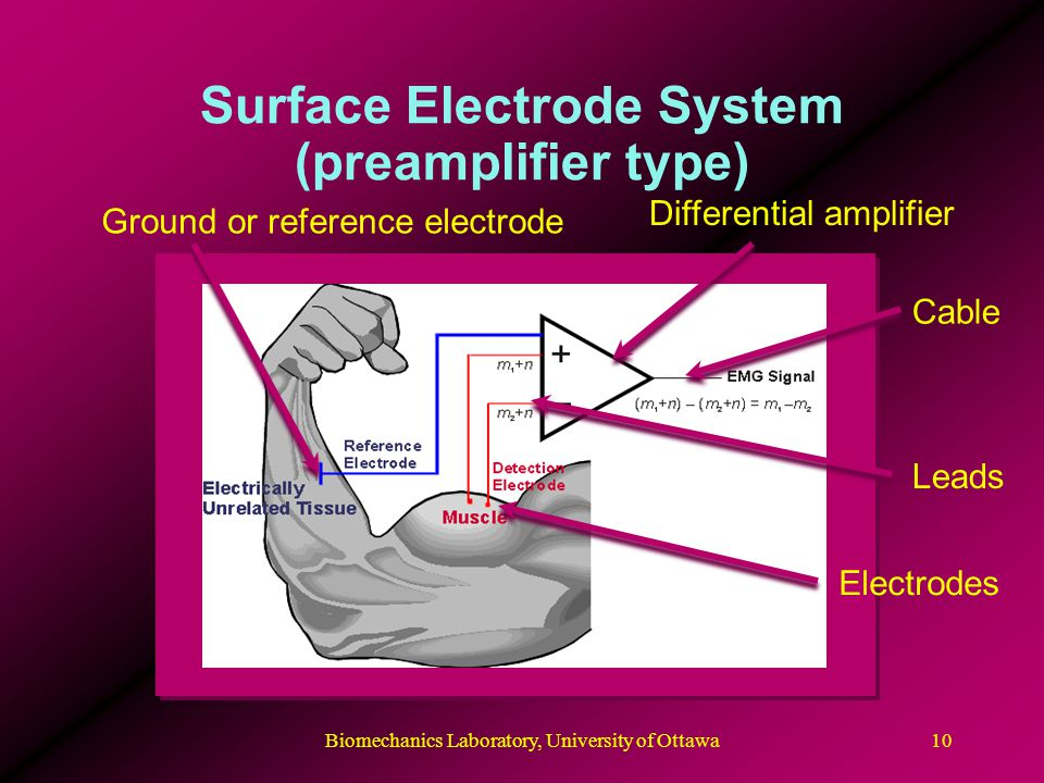 Surface Electrode System (preamplifier type)