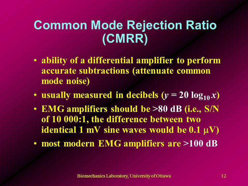 Common Mode Rejection Ratio (CMRR)