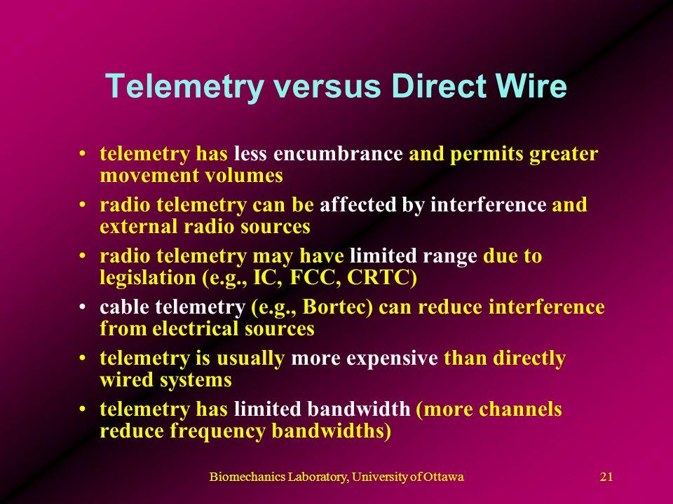 Telemetry versus Direct Wire