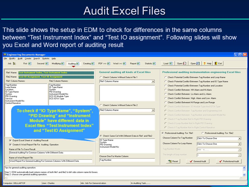 Audit Excel Files