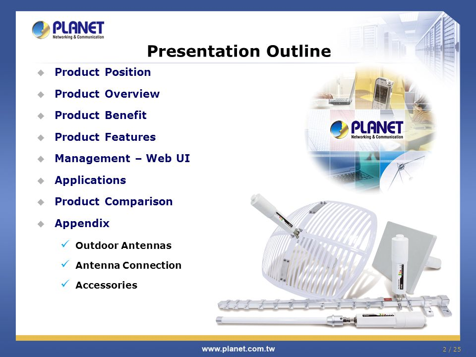 Presentation Outline Product Position Product Overview Product Benefit