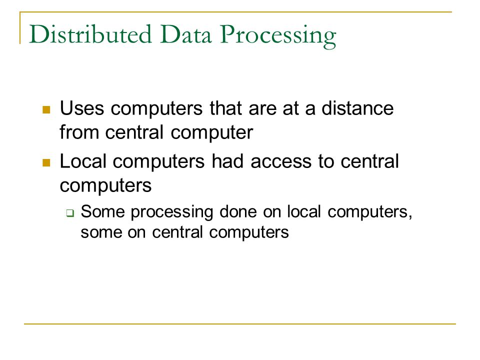 Distributed Data Processing