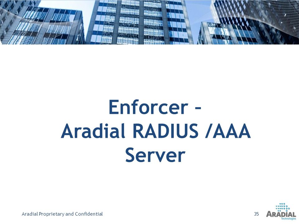 Aradial RADIUS /AAA Server
