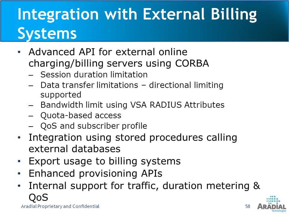 Integration with External Billing Systems