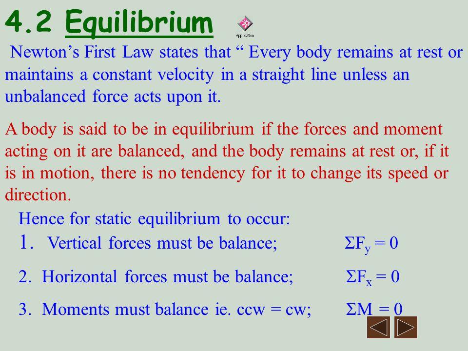 4.2 Equilibrium