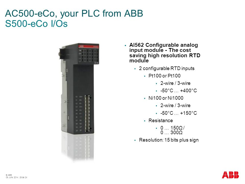 AC500-eCo, your PLC from ABB S500-eCo I/Os