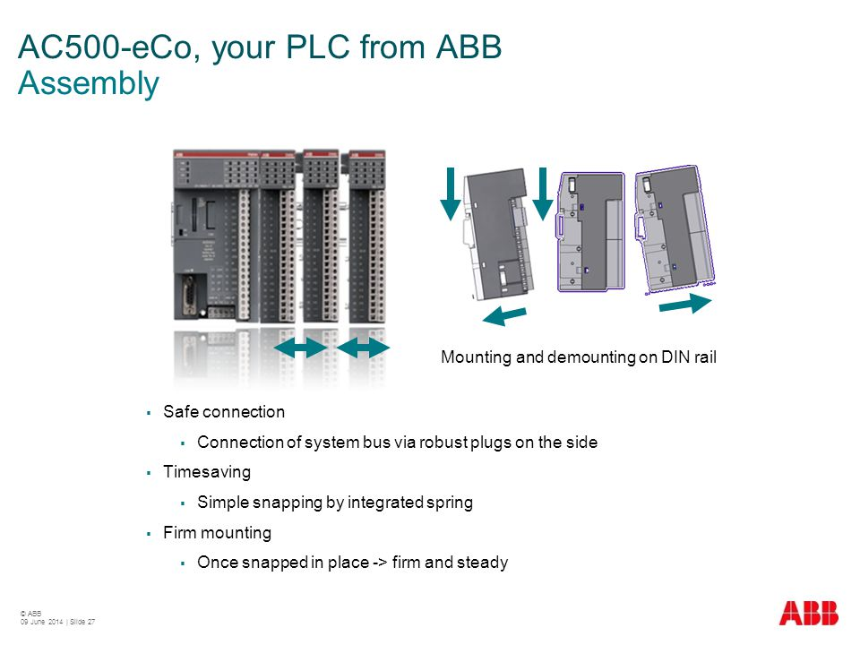 AC500-eCo, your PLC from ABB Assembly