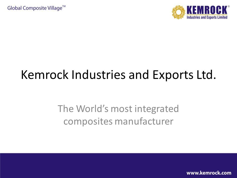 Kemrock Industries and Exports Ltd.