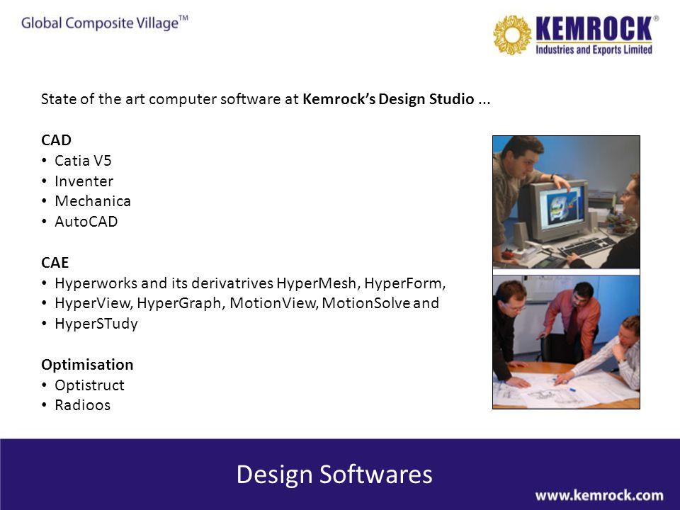 State of the art computer software at Kemrock's Design Studio ...