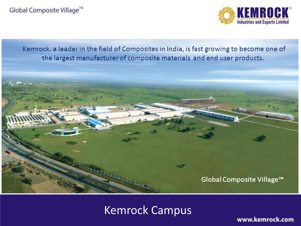 Kemrock, a leader in the field of Composites in India, is fast growing to become one of the largest manufacturer of composite materials and end user products.