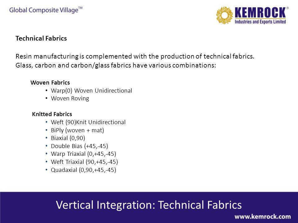 Vertical Integration: Technical Fabrics