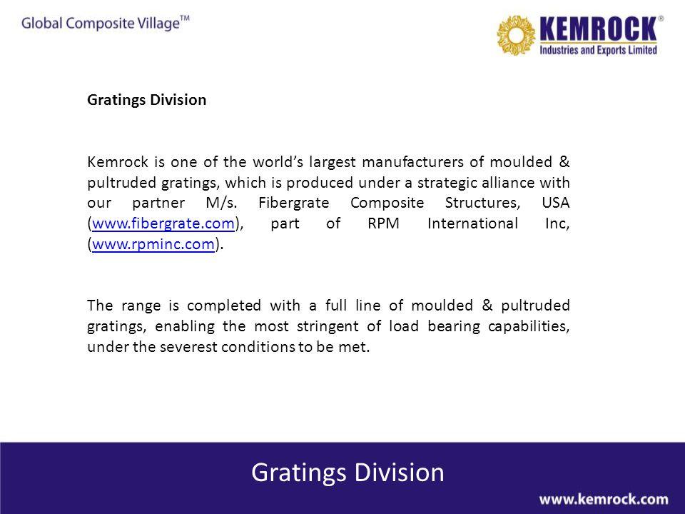 Gratings Division Gratings Division