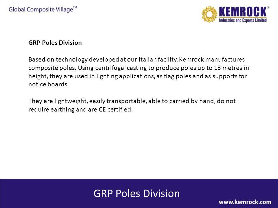 GRP Poles Division GRP Poles Division